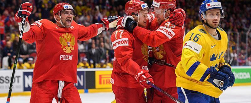 Сборная России «сделала» шведов со счетом 7:4. 23 мая русские сыграют с американцами