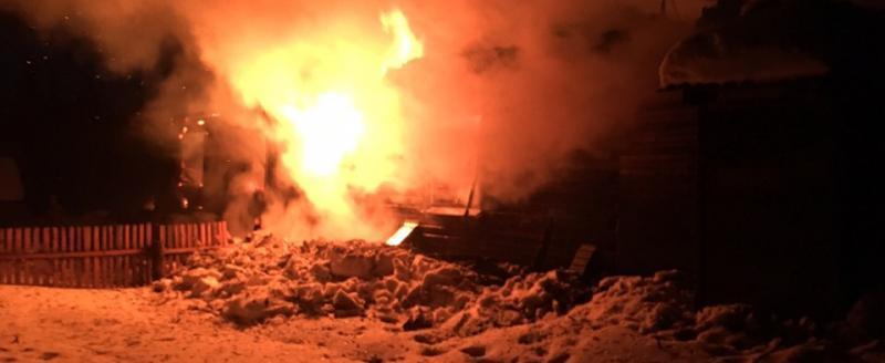 Столярная мастерская местного предпринимателя сгорела в Усть-Кубинском районе