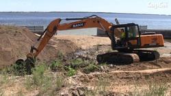 Началось строительство набережной с пляжем. Видео