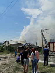 На Чапаева горели 3 дома