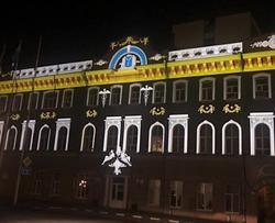 Здание мэрии Саратова подвергли слайд-меппингу