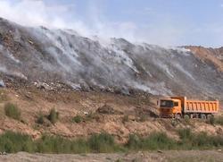 Регоператор: тушение мусорного полигона находится на завершающей стадии