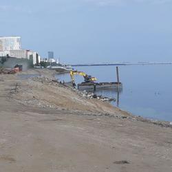 Строители пляжа в Саратове готовятся к берегоукрепительным работам