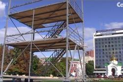 На Театральной площади строят башню