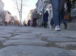 На проспекте Кирова уложили булыжники весом до 34 кг