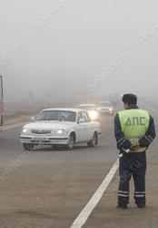 ГИБДД предупреждает водителей о тумане