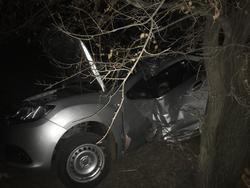Погиб пассажир врезавшегося в дерево